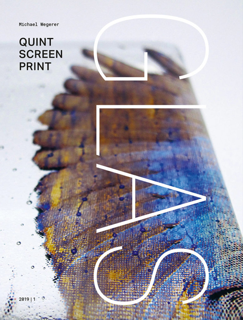 Buchcover Quint Screen Print: Glass